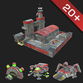 A high quality pack of 20+ RTS Upgradable Buildings with PBR Substance Materials.
