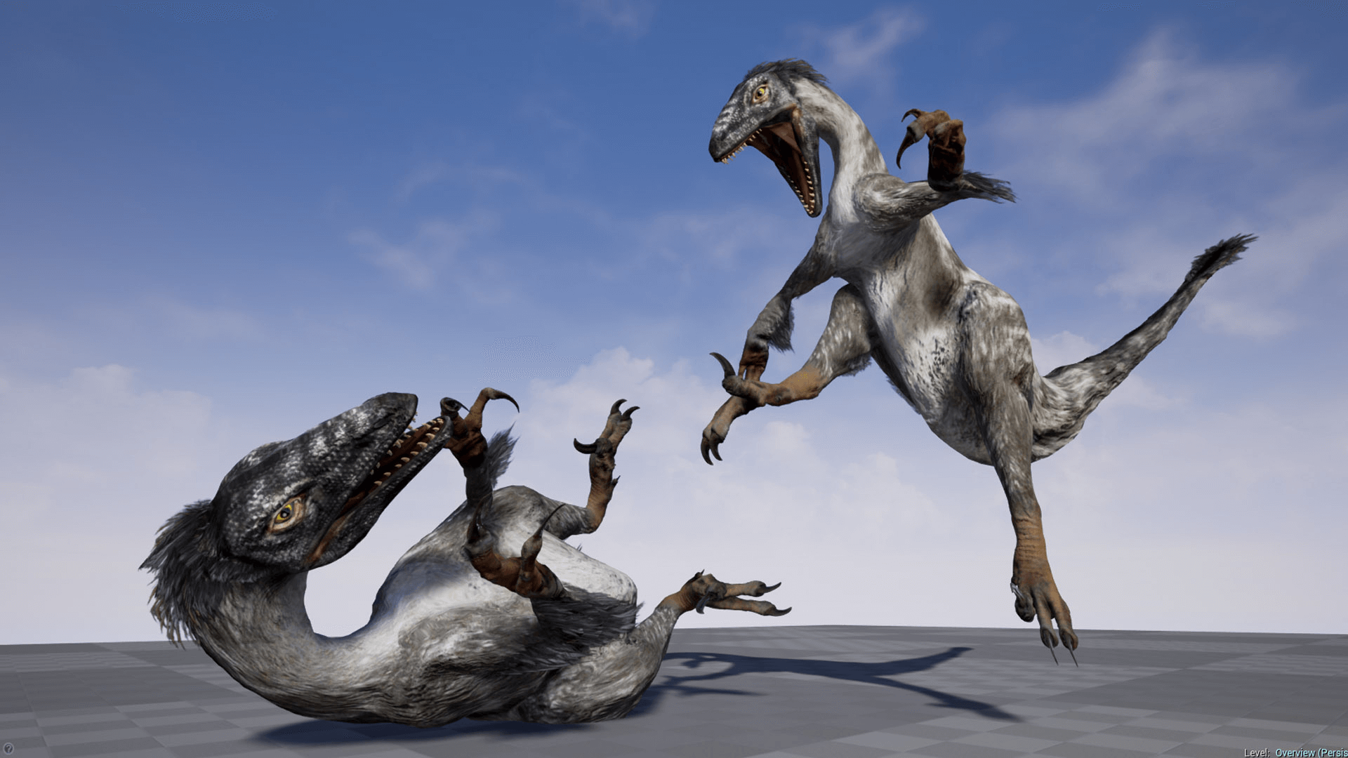 Raptor dinosaur animated by kubold in characters ue4 marketplace - Raptor dinosaure ...