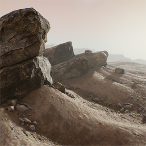 A pack of highly detailed rocks, originally made for use in cinematic VFX, later optimized specially for Unreal Engine.