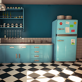 This package contains everything you need to build a small and cozy retro Kitchen. You can change colors of everything using Material Instances from big props like fridges, stoves to small props like cookwares, dishes, jars, etc…