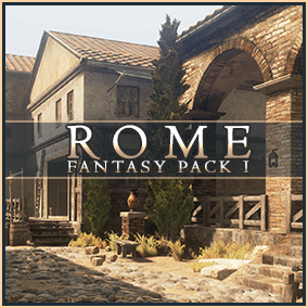 Rome: Fantasy Pack I is a complete, Triple-A environment pack set in Ancient Rome, focused on the middle to lower-class lifestyle in the grand city. Multi-floor dilapidated architecture, archways, brick and stone, iron and mud.