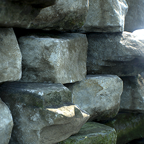 Six high resolution stand stone models created from 4 million triangle source scans.