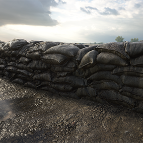 A highly detailed pack of military sandbags based on real photogrammetric data