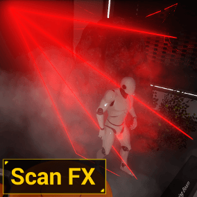 Scan everything with lasers, x-ray, sonar and enhanced vision!