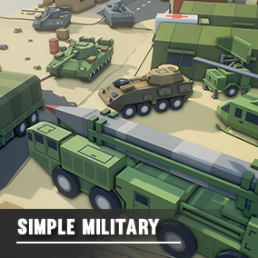 An asset pack of Military themed assets.