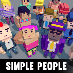 A simple asset pack of characters to create a simple cube style game with our other assets.