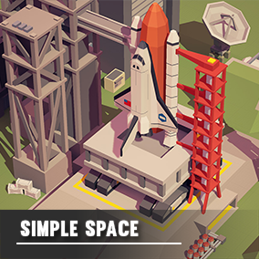 An asset pack of Space assets to create a Space Exploration style game