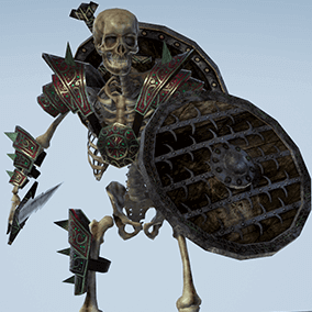 Low polygonal game ready animated model of Skeleton Footman.
