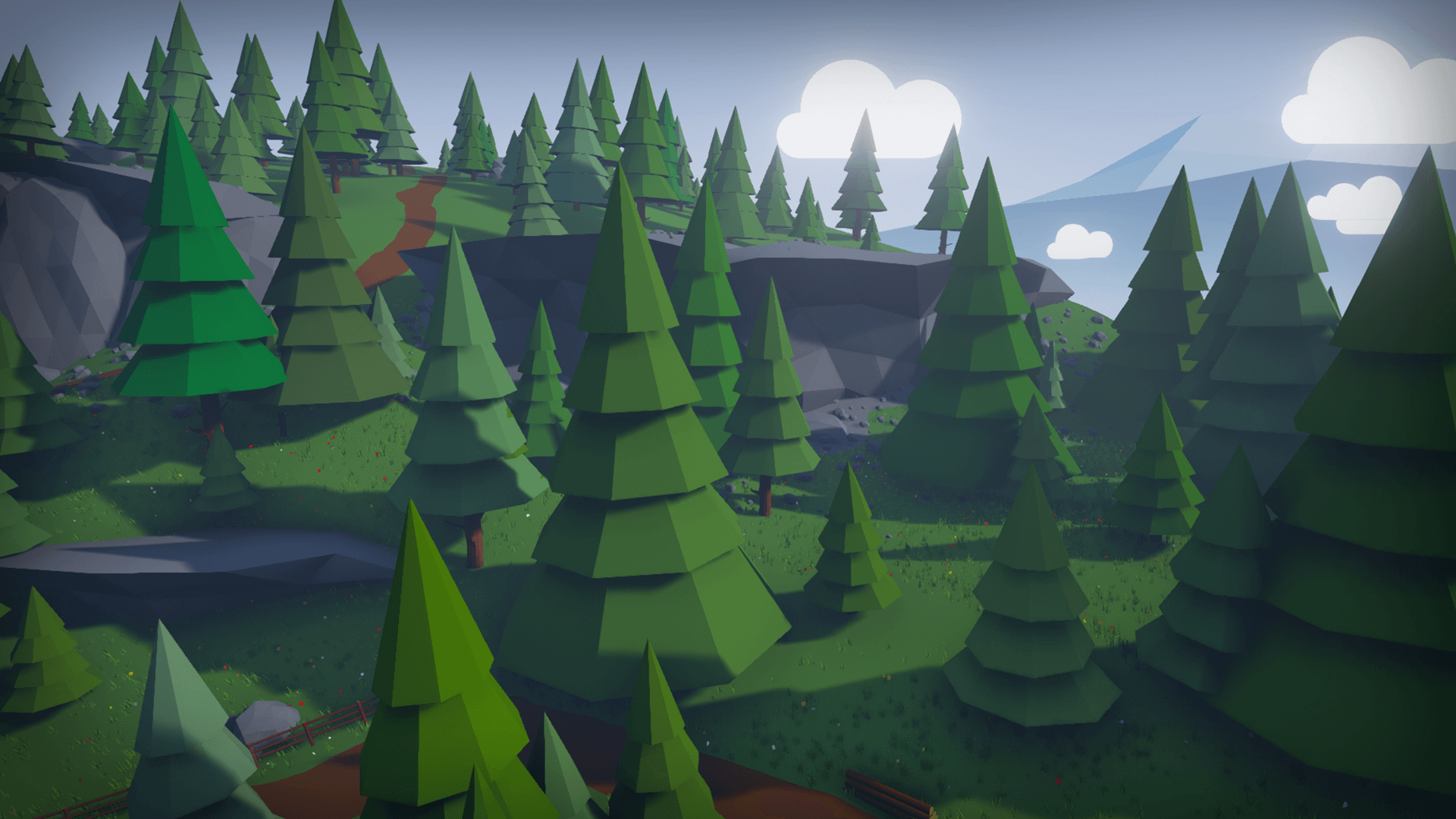 Stylized Low Poly Environment by MacKenzie Shirk in Environments