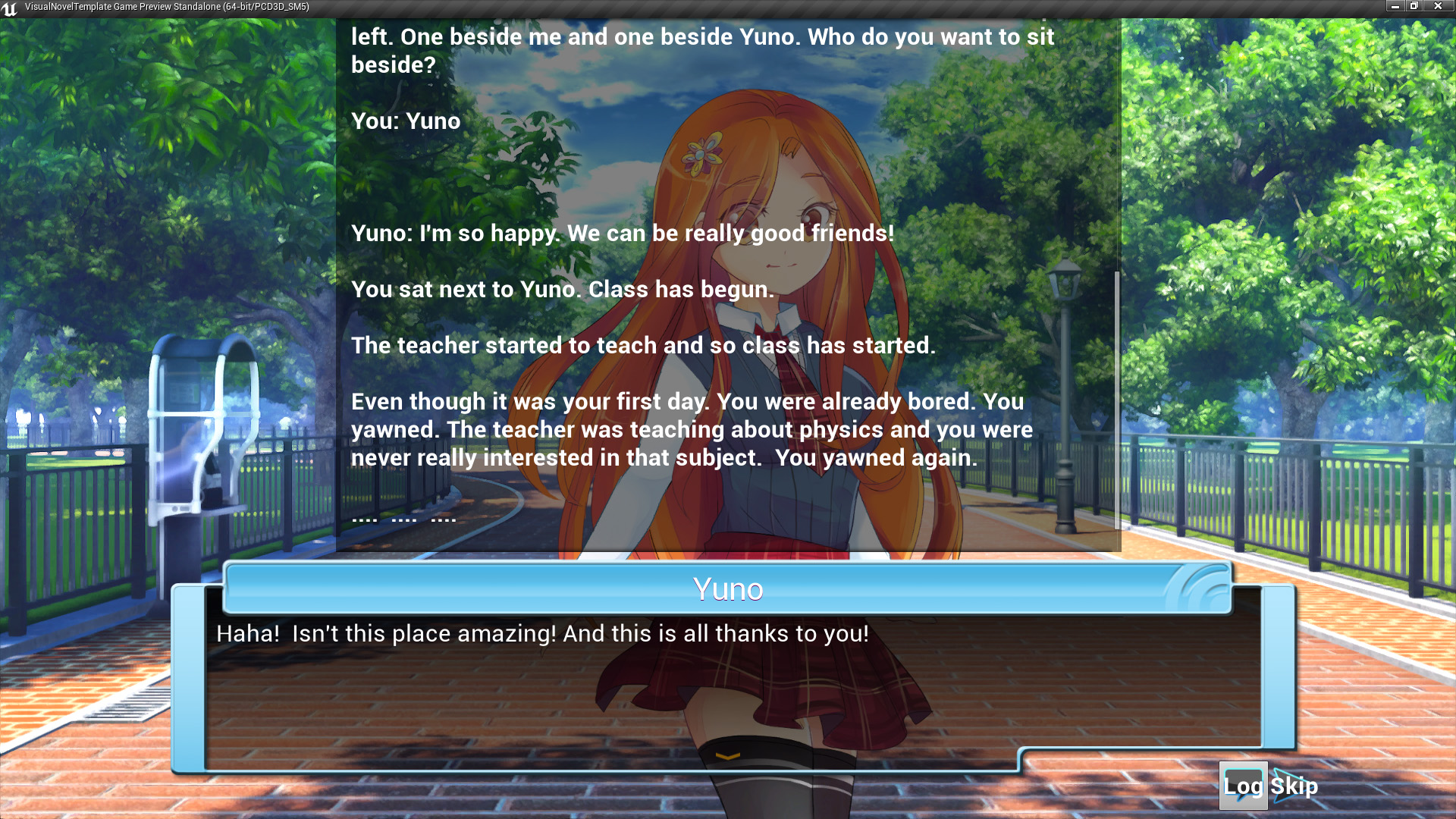Visual Novel Template by Savy Tieng in Blueprints - UE4 Marketplace