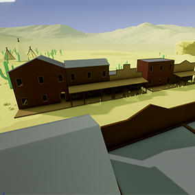 A simple set of rural buildings to help spice up your low poly environments.