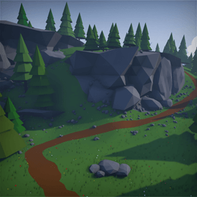 A simple, faceted low poly package for a range of environments.