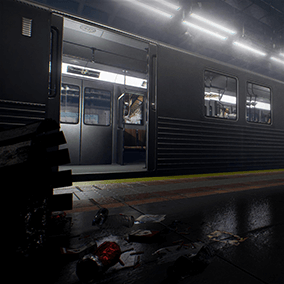 A detailed subway environment inspired from NYC, Toronto subways.