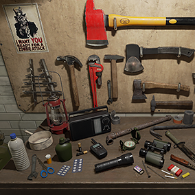Here are some high-quality various items, which could be useful while post-apocalypse times (zombies, viruses, war, etc.).