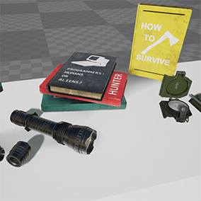 Survival Props Pack contains 26 props for any first person survival game.