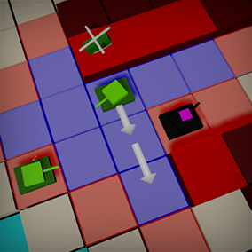 Tools for representing and querying 2D grid worlds, targeted at turn based strategy games.
