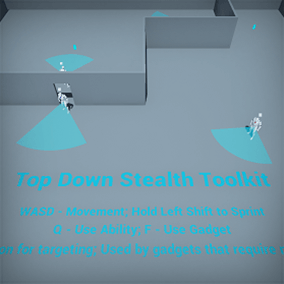 The Top Down Stealth Toolkit is a pure blueprint framework that enables quick & easy creation of Stealth games from a Top Down Perspective.