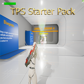 Third Person Shooter Starter Pack with features like Multiplayer Cover System Weapons Drop/Pickup  Paintball Projectiles AI's  an amazing kit to begin your journey to the world of Unreal !!!