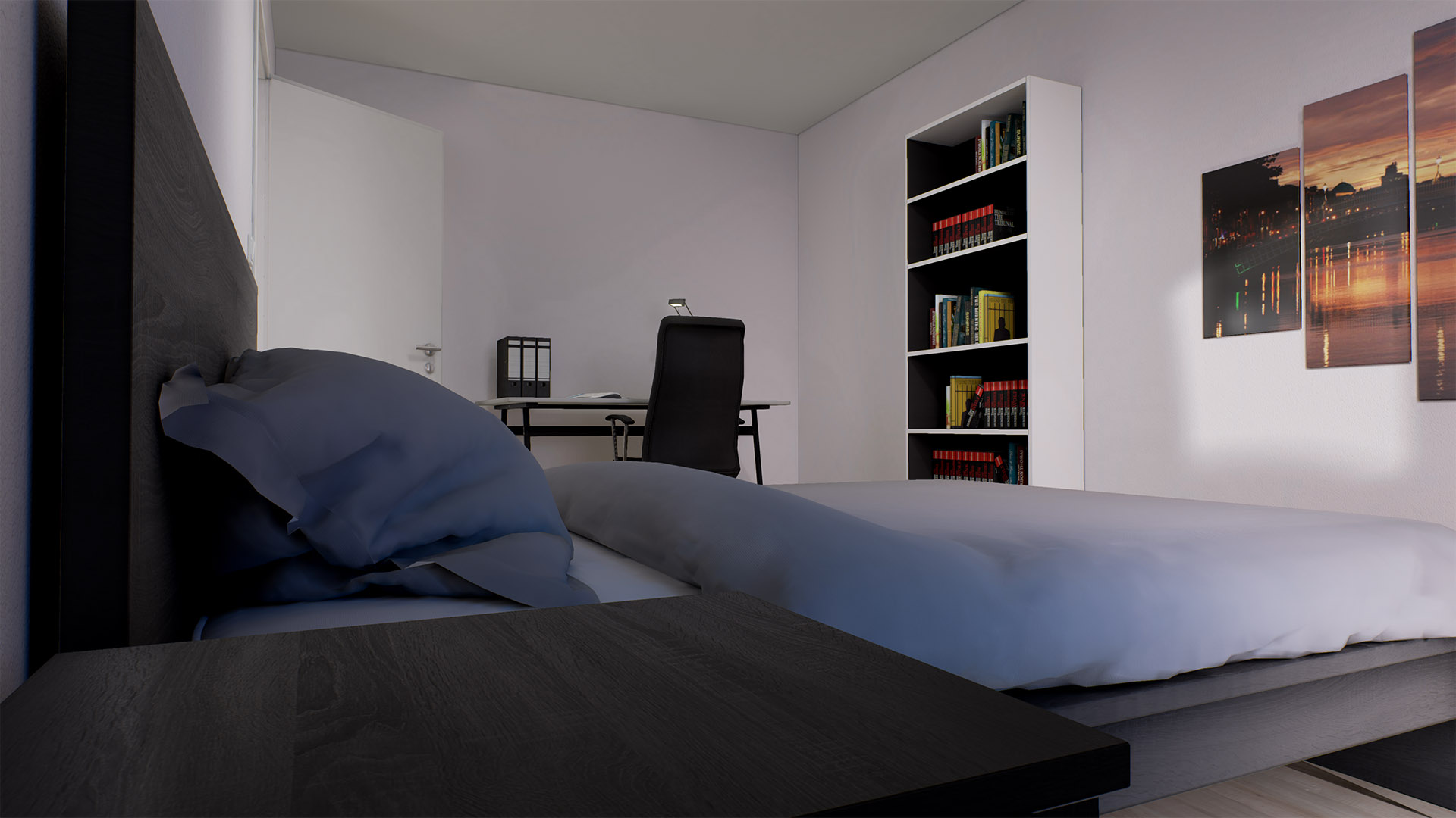 Game engine technology by unreal for Modern flat interior