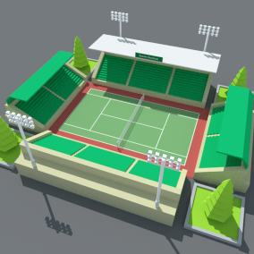 SimplePoly Stadium Kit is a low poly assets pack for to build simple stadium for your game.