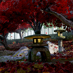 It is a Japanese style environment set.