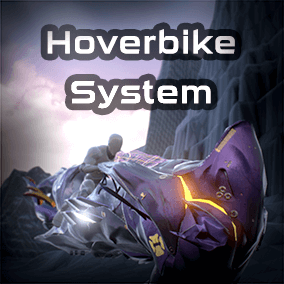 The complete solution to get a hoverbike for your game. This package allows you to ride a futuristic hoverbike and customize it the way you wish.