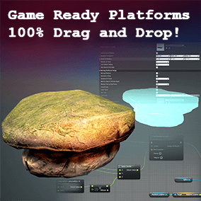 This package comes with a complete blueprint framework to create any platform for your games, 100% drag and drop and highly customizable!