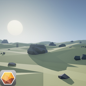 This is a stylized low poly rocks asset pack.