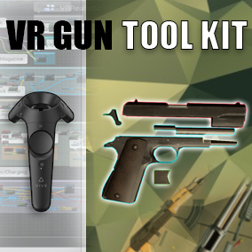 VRGunToolKit is designed for a fast and scalable creation of physically interactive weapons for VR.