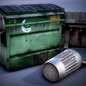 This pack is quick and easy way to create various dynamic dumpsters using the same Blueprints.