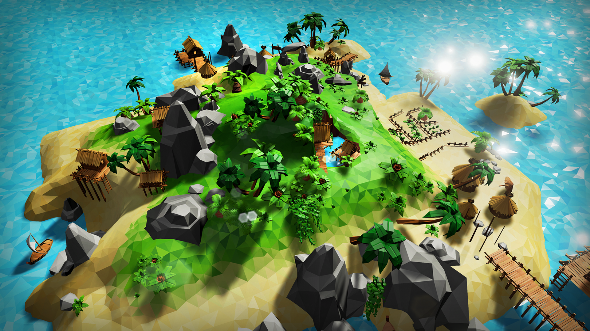 Lowpoly Tropical Island by BRAiNBOX in Environments - UE4 Marketplace