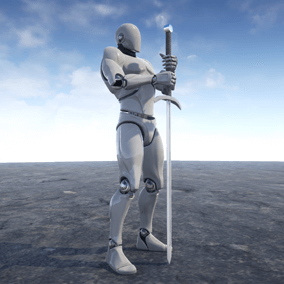 This is a set of 173 motion capture animations for character with Two Handed Sword