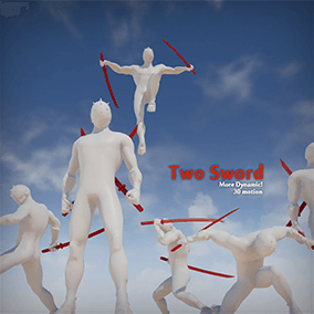 TwoSword Animation Set contains 30 animation with dynamic poses!