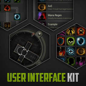 The User Interface Kit offers a collection of widgets, icons and UI elements for your projects.