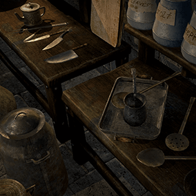 Old Kitchen collection for any of games kind.