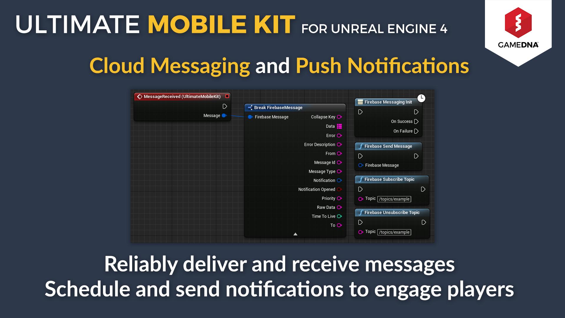Ultimate Mobile Kit Firebase by gameDNA in Code Plugins - UE4