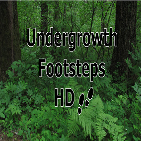 Most packs contain lots of footsteps most of which you never need. Are you looking for footsteps trough bushes and thickets? This pack gives you just that, Undergrowth Footsteps.