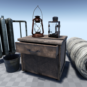 A collection of 56 urban interior assets ready to populate your next project or scene.