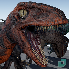 Velociraptor with 4k textures and animations.