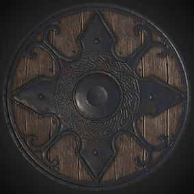 A collection of 7 different Viking Shields for use as first person armor or set dressing an old viking/medieval environment.