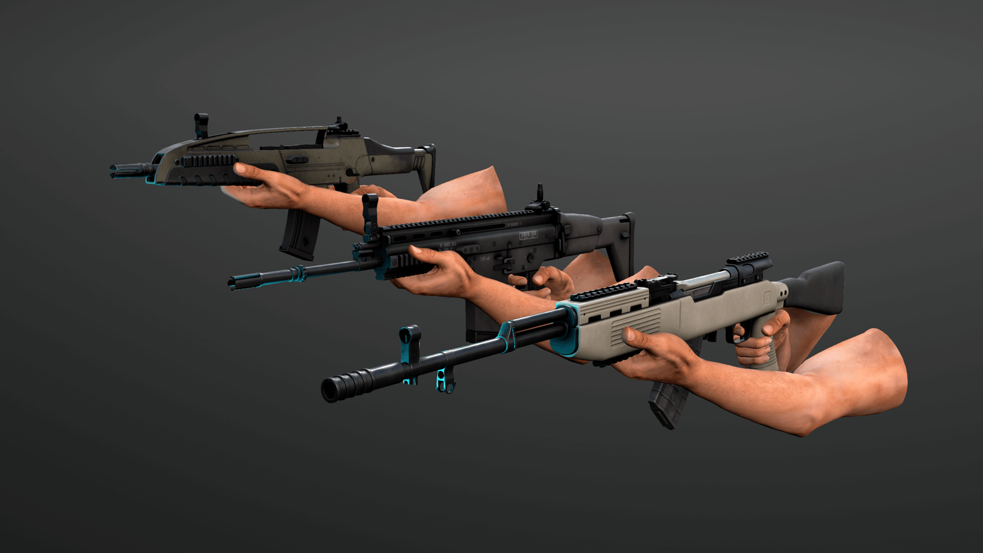 Animated Rifle Variety Weapons Pack by Ironbelly Studios Inc