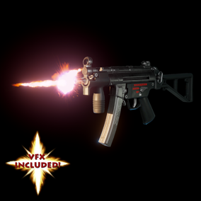 AAA quality MP5K SMG with VFX, 4K textures, 3 LODs, & fully animated / rigged arms. Save 20%.