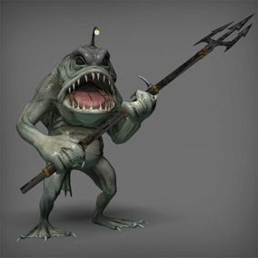 A nice fantasy were creature for your heroic fantasy project.