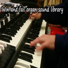 """Win"" and ""fail"" sounds and phrases played live with an hammond organ"