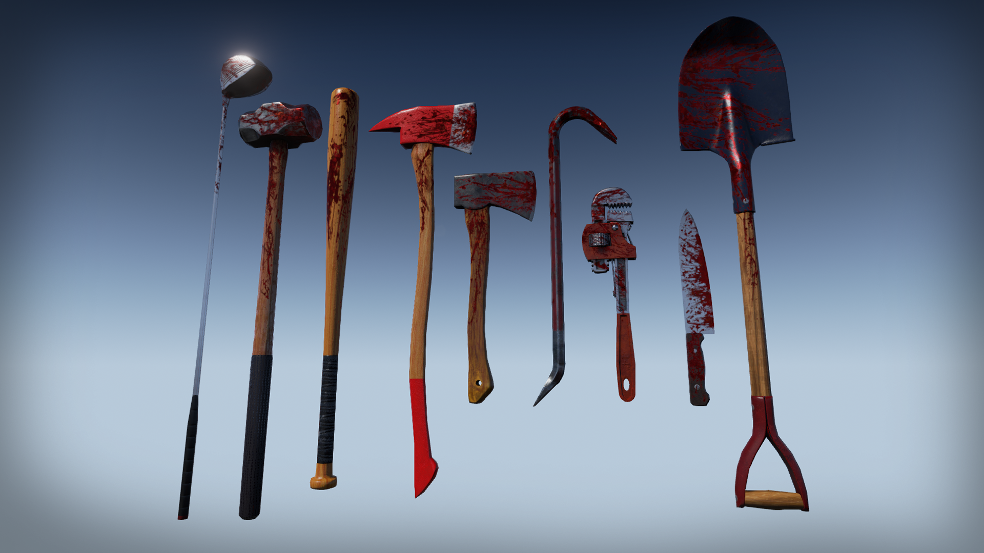 Zombie melee weapons by jeong seong kyo in weapons ue4 marketplace malvernweather Image collections