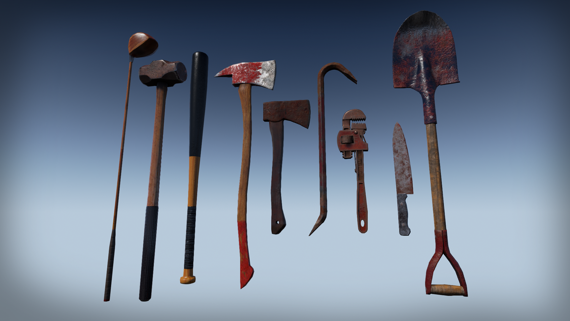 Zombie Melee Weapons by Jeong Seong Kyo in Weapons - UE4 ...