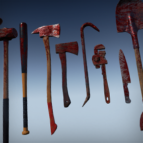 9 melee weapons for zombie games.