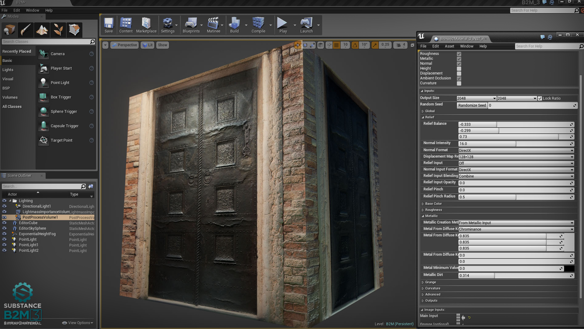how to prepare texture for unreal
