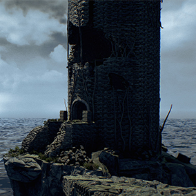 A collection of 91 modular assets you need for building ancient ruins on the cliff.