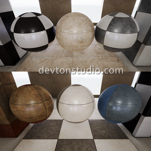 36 Materials with 106 seamless 4k textures.